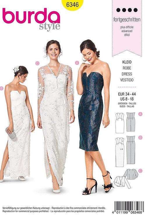 Burda 6346 Braut- oder Cocktailkleid