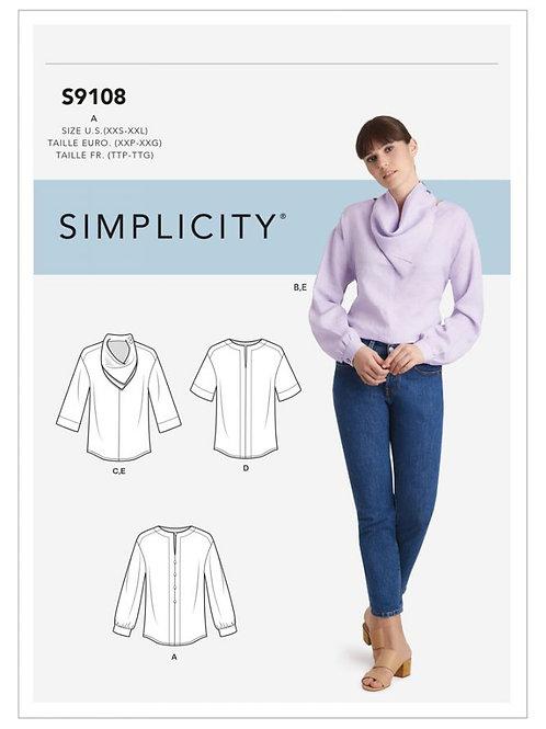 Simplicity 9108 Bluse