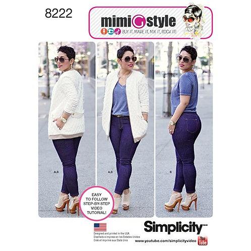 Simplicity 8222 Stretch - Jeans & Bomberjacke