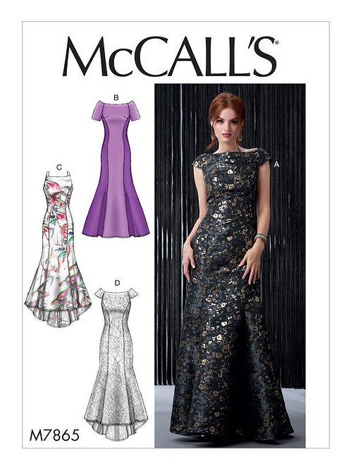 McCall's 7865 bodenlanges Abendkleid