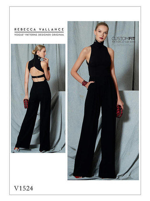 Vogue V1524 extravaganter Overall by Rebecca Vallance
