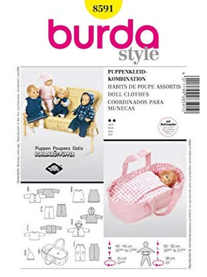 Burda 8591 Puppen-Accessories für 40 - 55 cm Puppen