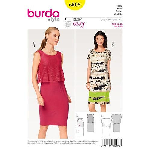 Burda 6508 Jersey - Kleid