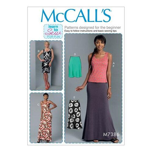 McCall`s M7386 Rock, Kleid und Top