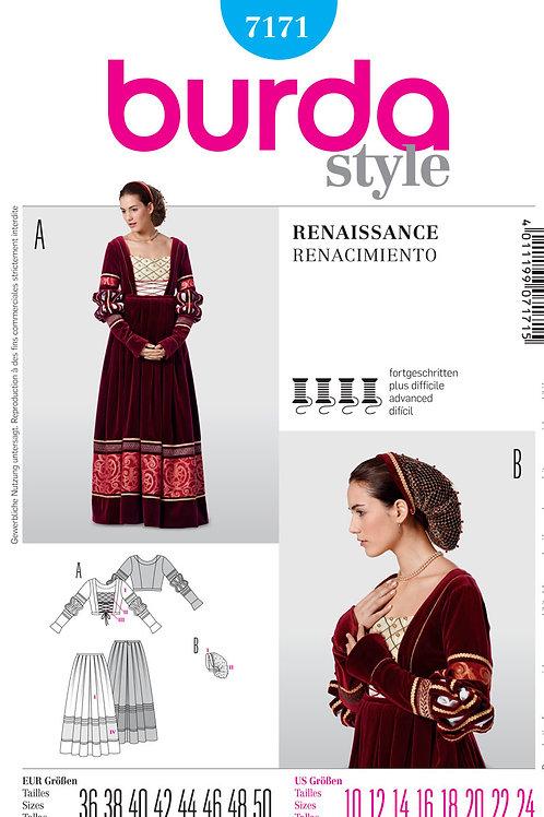 Burda 7171 Renaissance - Kleid