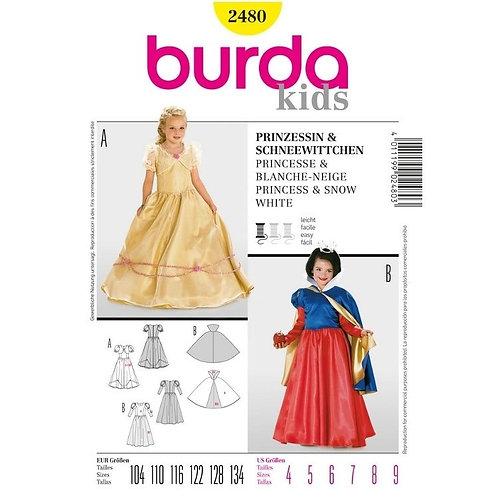 Burda 2480 Prinzessin & Schneewittchen