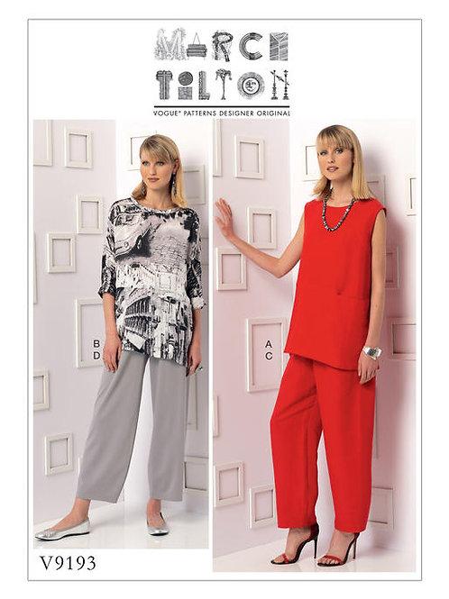 Vogue V9193 Tunika & Hose by Marcy Tilton