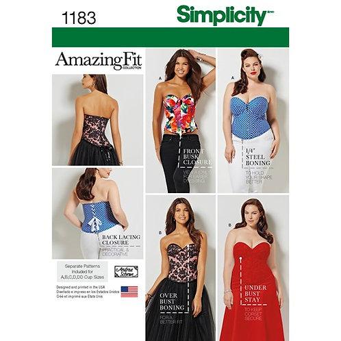 Simplicity 1183 Korsage