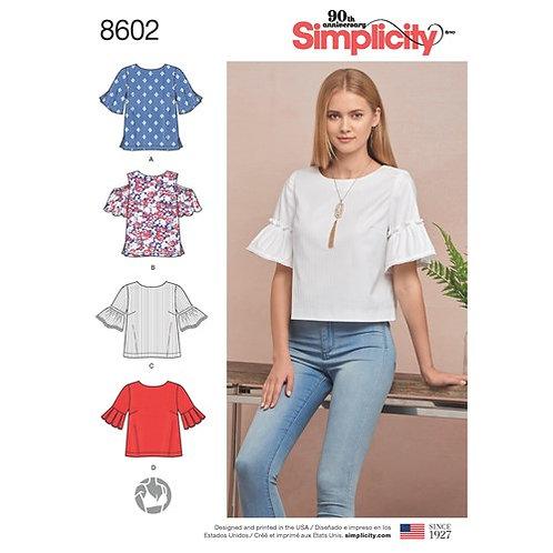 Simplicity 8602 Bluse