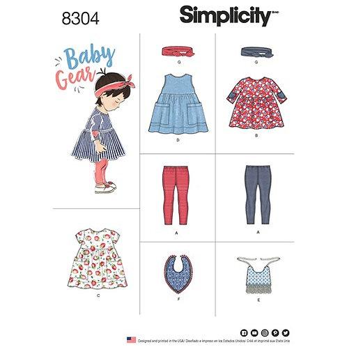 Simplicity 8304 Baby Ausstattung