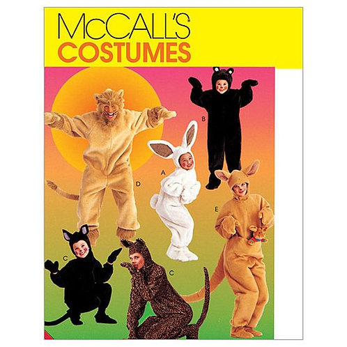 McCall`s M6106 Faschings-Tiere