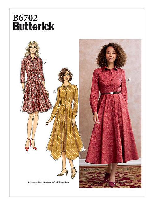 Butterick B6702 Hemdblusenkleid