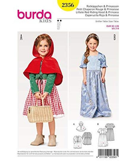Burda 2356 Rotkäppchen & Prinzessin