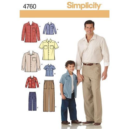 Simplicity 4760 Hemd & Hose