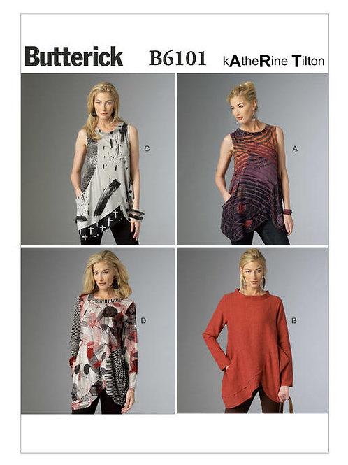 Butterick B6101 asymetrische Tunika by Katherine Tilton