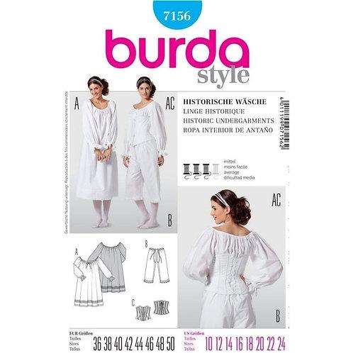 Burda 7156 historische Unterwäsche