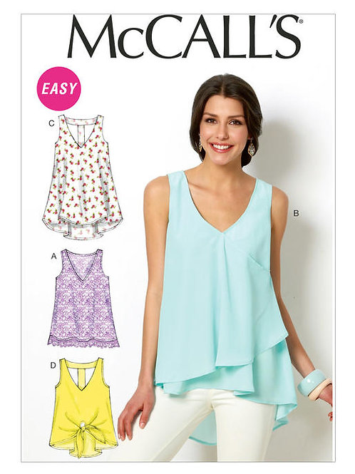 McCall's M6960 sommerliches Top & Tunika