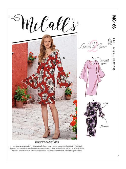 McCall's 8166 tailliertes Kleid