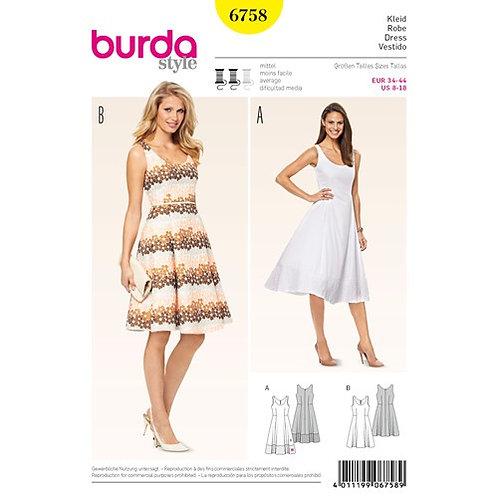Burda 6758 Princess - Kleid