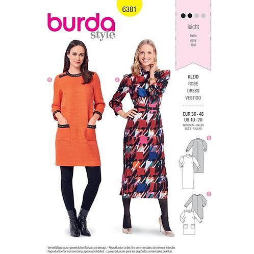 Burda 6381 Kleid im Retro-Stil