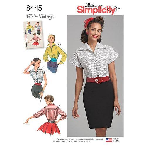 Simplicity 8445 Vintage - Bluse
