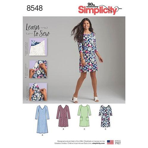 Simplicity 8548 Shirt - Kleid
