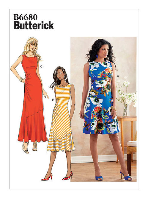 Butterick B6680 enges Jersey - Kleid
