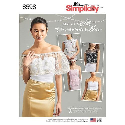Simplicity 8598 festliche Bluse