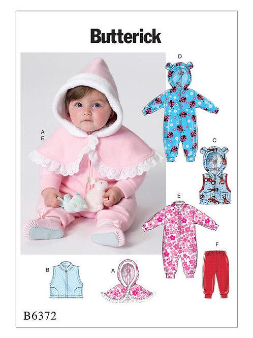 Butterick B6372 Babyausstattung