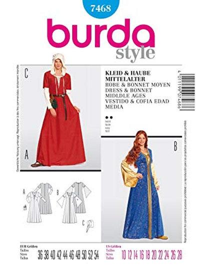 Burda 7468 mittelalterliches Kleid & Haube