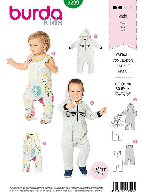 Burda 9299 Baby - Overall