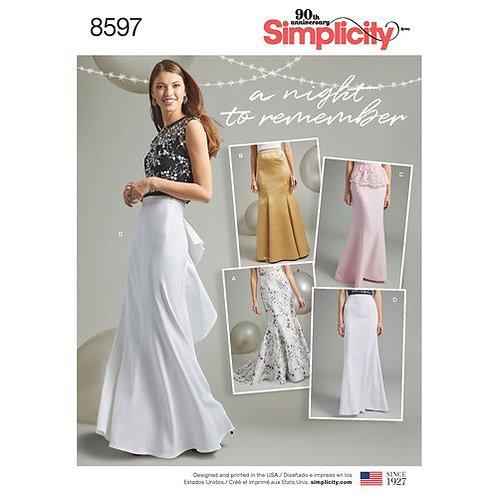 Simplicity 8597 Godet - Rock