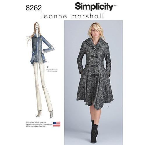 Simplicity 8262 Mantel oder Jacke