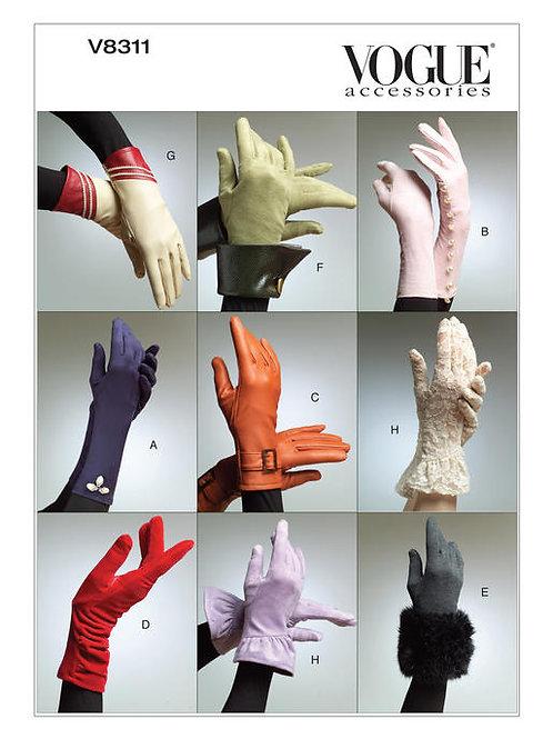 Vogue V8311 verschiedene Handschuhe