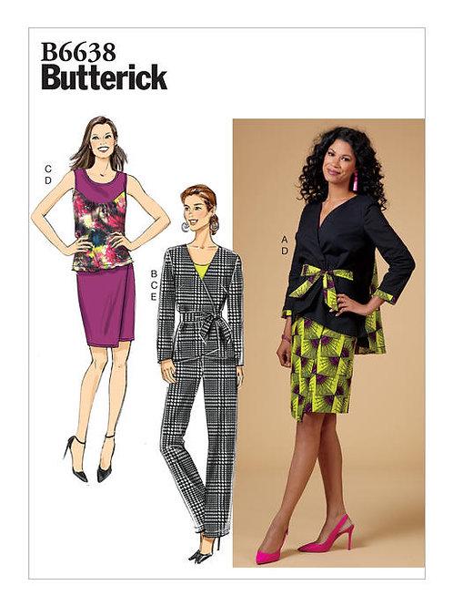 Butterick B6638 Jacke, Top, Rock, Hose