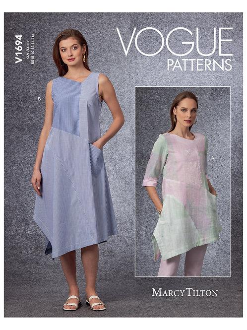 Vogue V1694 Zippelkleid