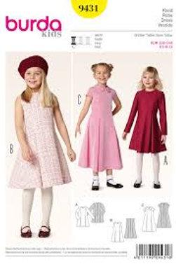Burda 9431 ausgestelltes Kleid