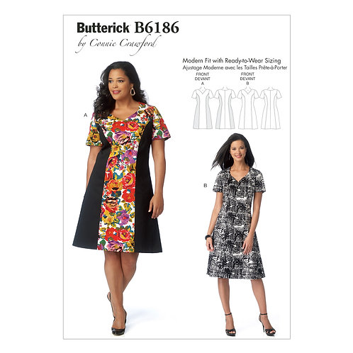 Butterick B6186 Designerkleid by Conny Crawford