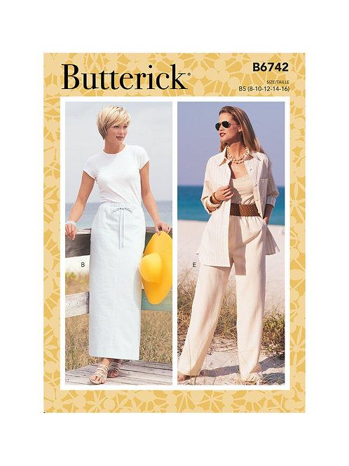 Butterick B6742 Hosen/Rock