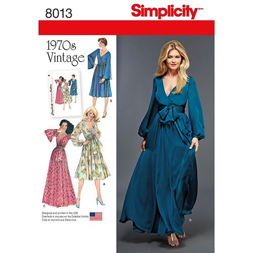 Simplicity 8013 Vintage Wickelkleid