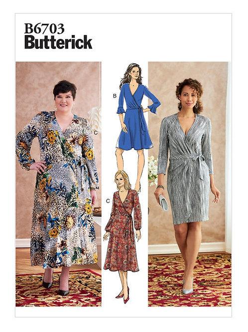 Butterick B6703 Wickelkleid