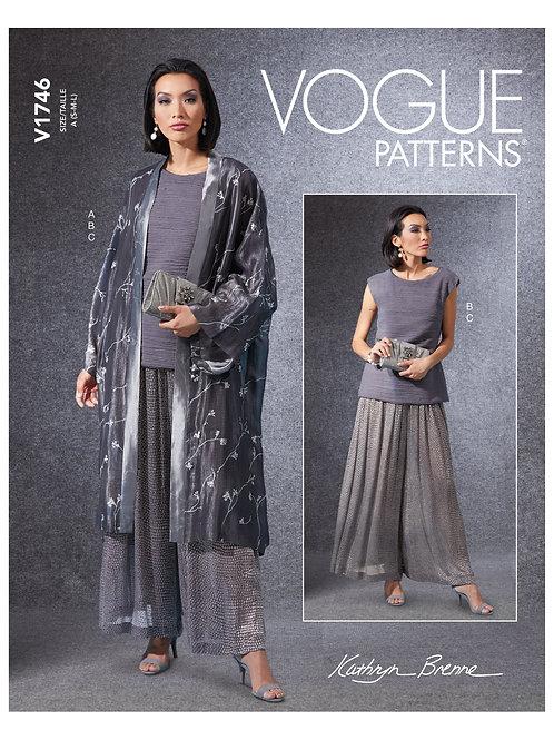 Vogue V1746 Kimono, Hose und Shirt