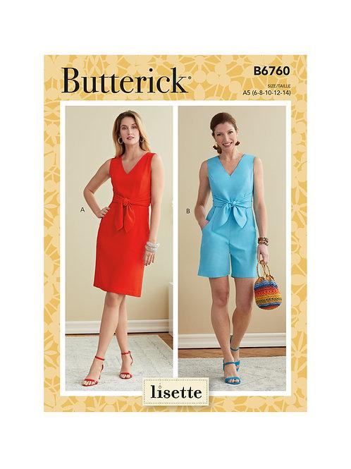 Butterick B6760 Kleid oder Overall