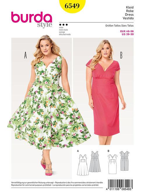 Burda 6549 schwungvolles Sommerkleid