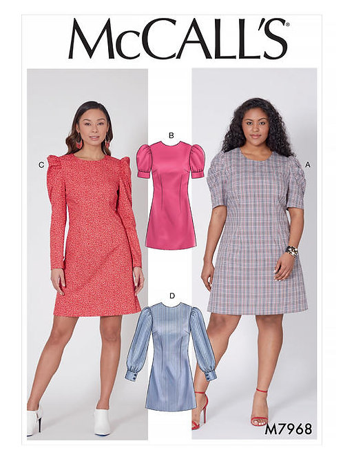 McCall's 7968 tailliertes Kleid mit Ärrmelvarianten