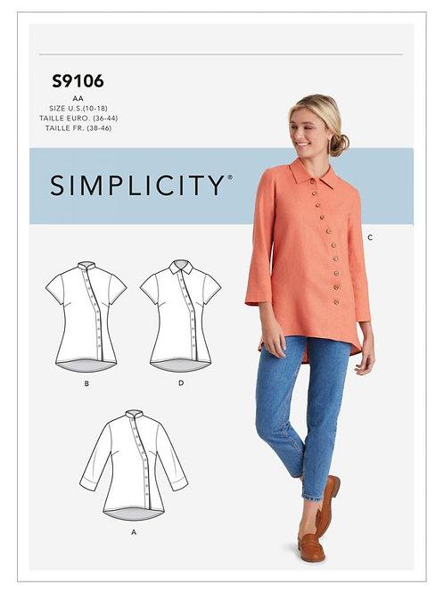 Simplicity 9106 Bluse