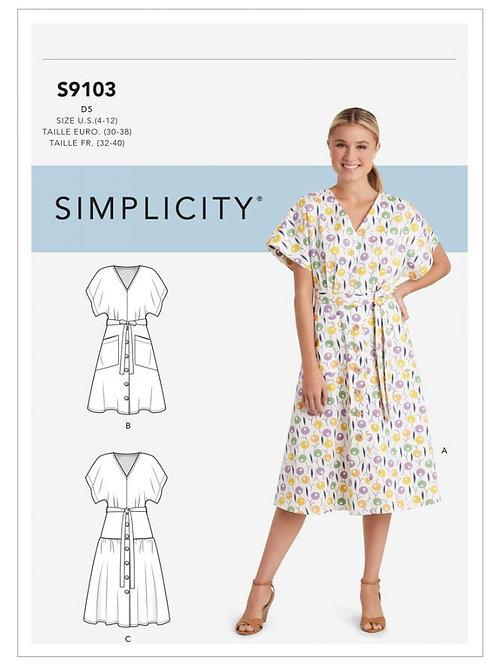 Simplicity 9103 Kleid