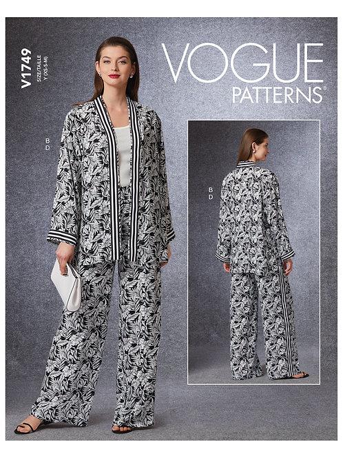Vogue V1749 Hose und Kimono