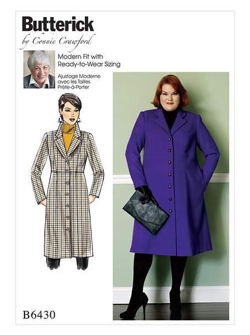 Butterick B6430 Taillenmantelby Connie Crawford