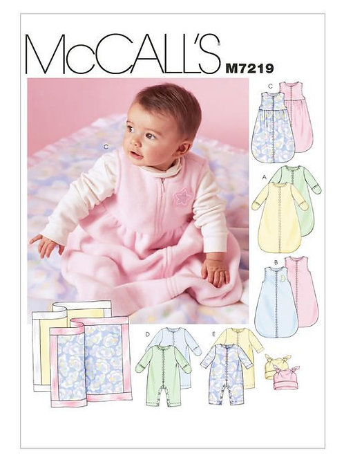 McCall`s MBaby-Schlafsack nd Overall